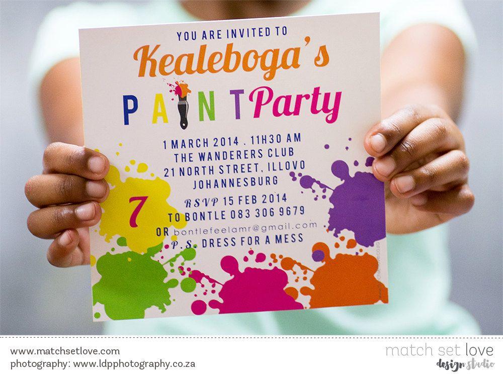 Art party Invitation - Colourful - Art Party - Birthday Invite | Art ...