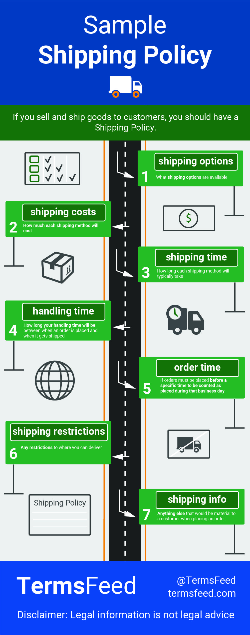 Sample Shipping Policy Template Ecommerce Pinterest Mobile App