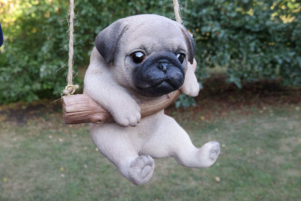 Pug Puppy Dog Hanging Swing Figurine Tree Ornament Garden Resin 5 Funny Dog Videos Funny Dogs Cute Animals With Funny Captions