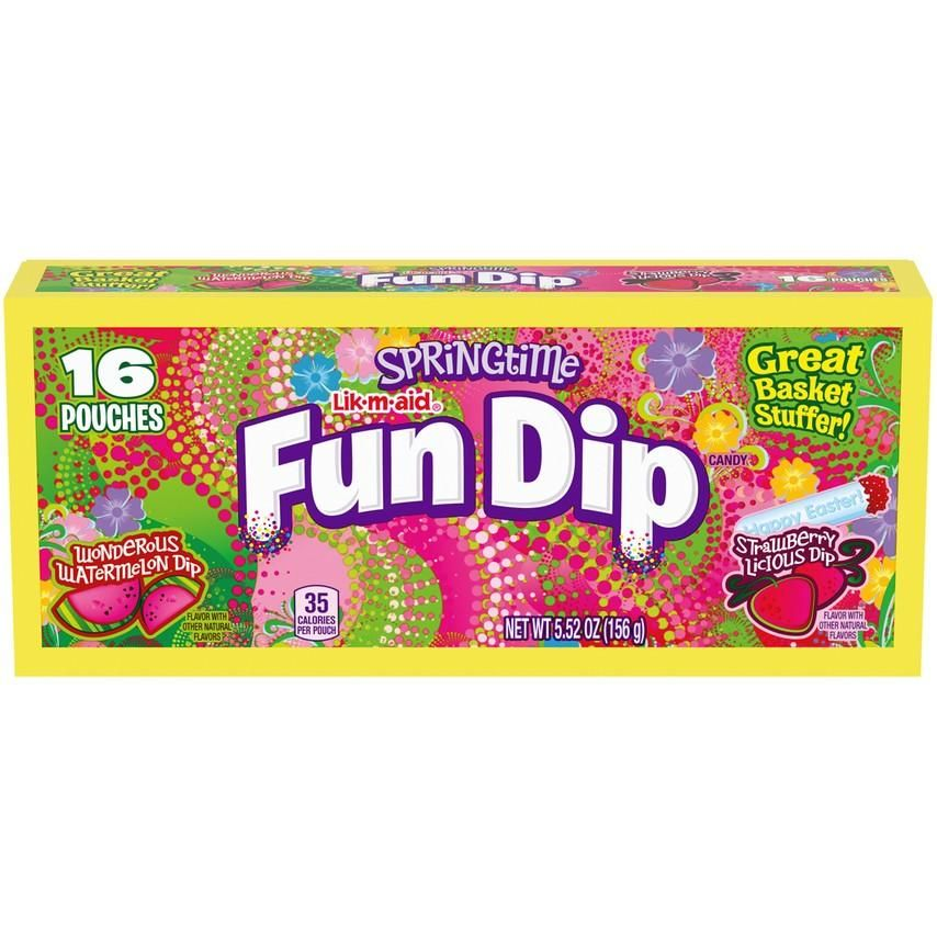 Springtime Easter Lik M Aid Fun Dip 5 52 Oz Package In 2021 Fun Dip Easter Candy Easter Fun