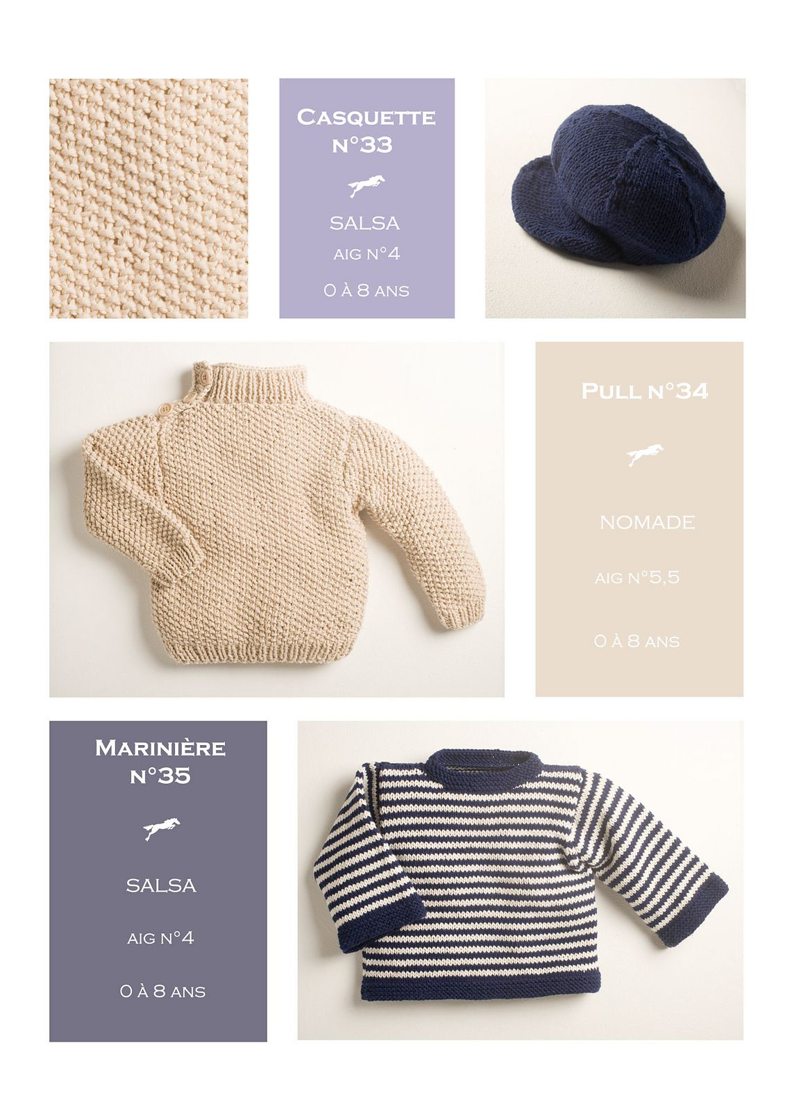 CB14 Cap-Jumper-Sailor Sweat N°33-34-35 pattern by Cheval Blanc ...