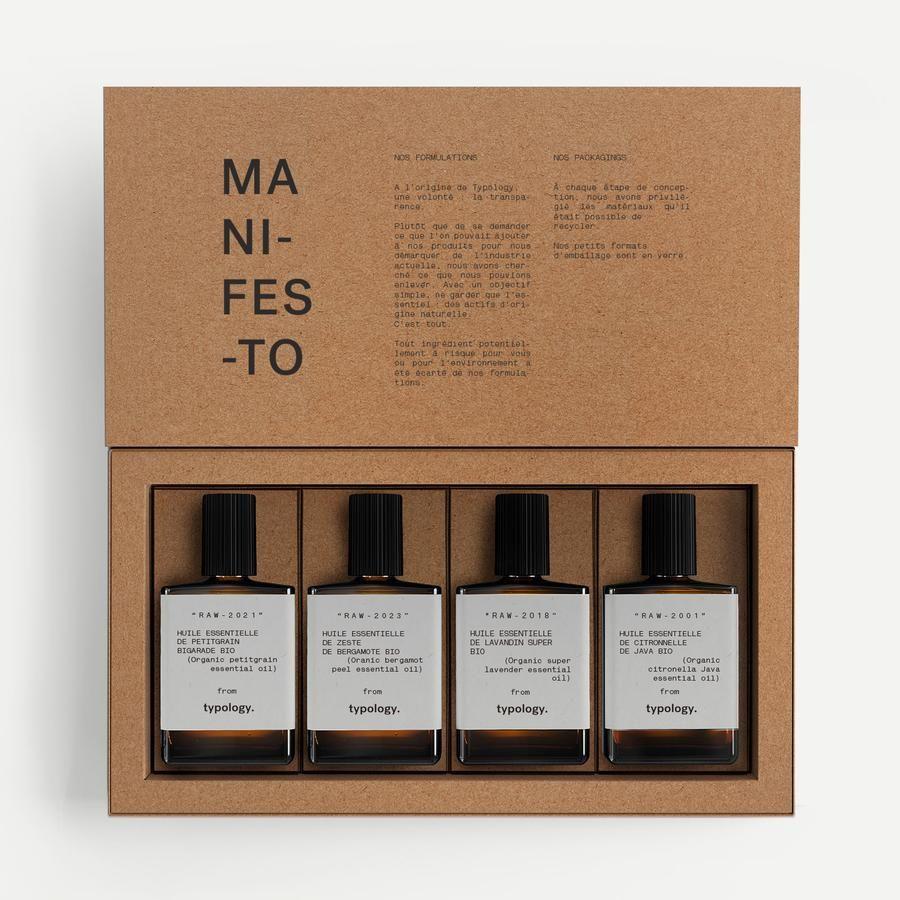 Typology Com Du Soin De La Peau Vegan Ethique Et Efficace Emballage De Parfum Huiles Essentielles Huile Essentielle Patchouli