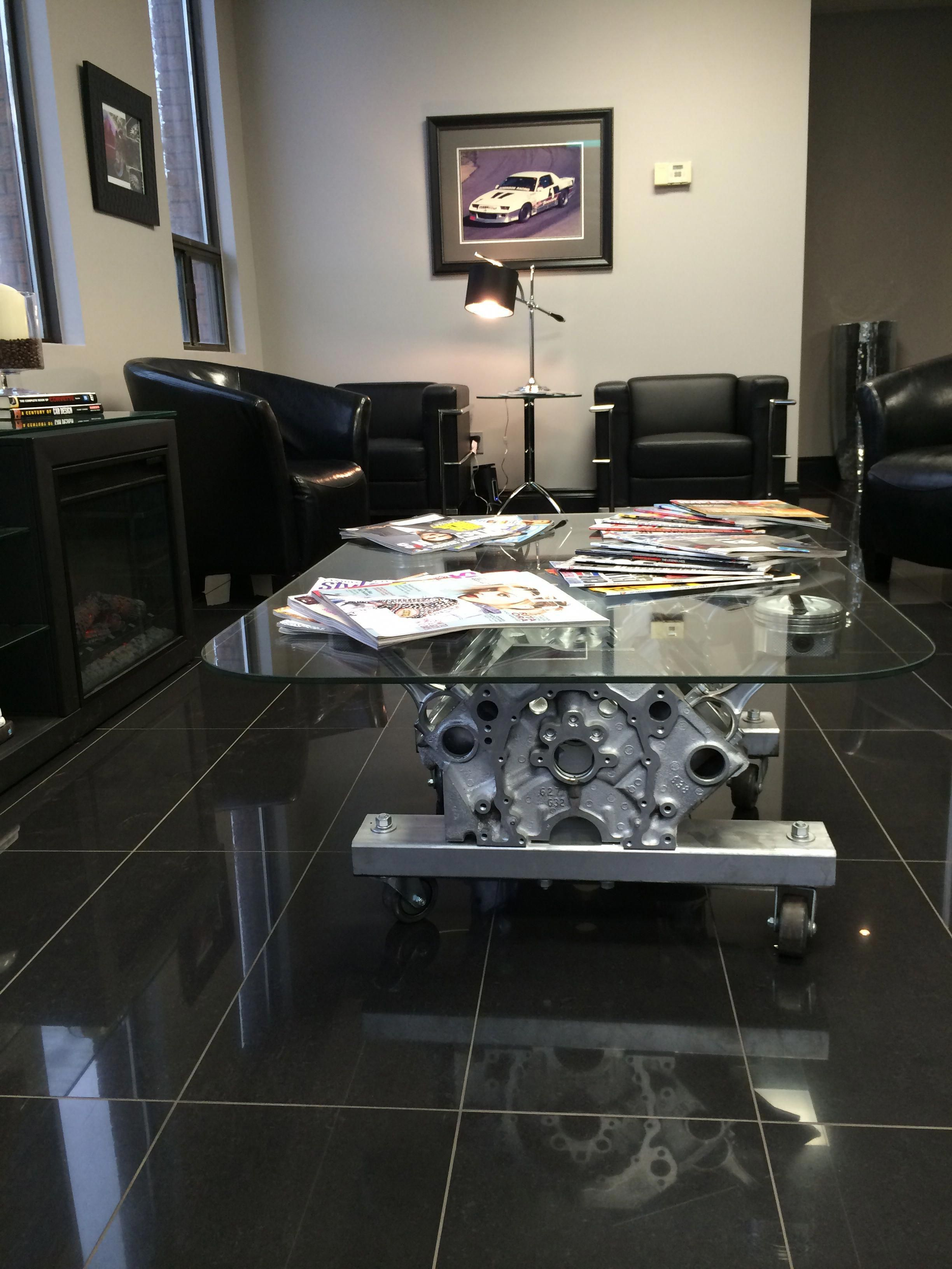 The Engine Room Design: Engine Table In The Waiting Room.