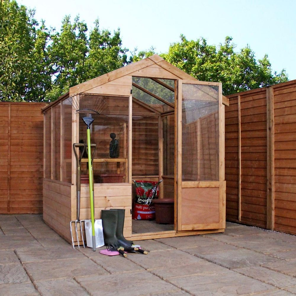 6x6 Wooden Evesham Tongue & Groove Greenhouse Styrene Glazing One ...