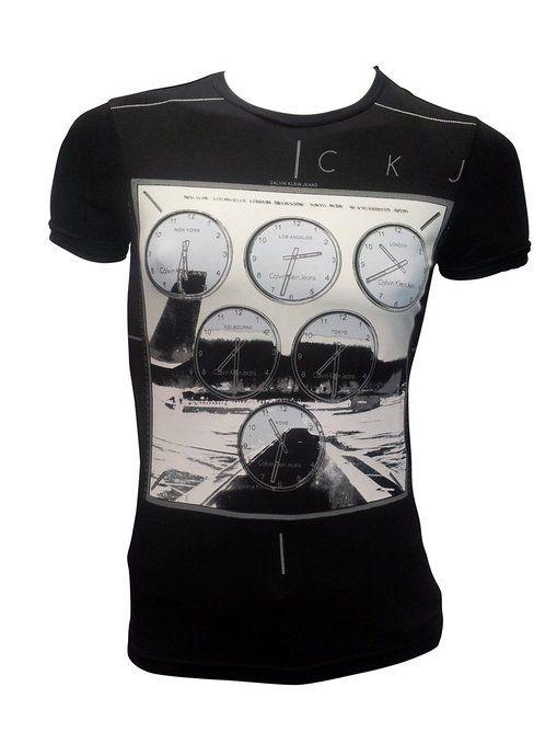 Tee Shirt Homme Calvin Klein Cmp37s Noir Ckjeans Calvinklein