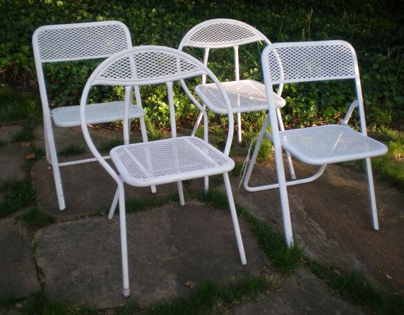 1960u0027s Rid Jid Folding Patio Chairs Made By The J. R. Clark Company Of  Spring Park