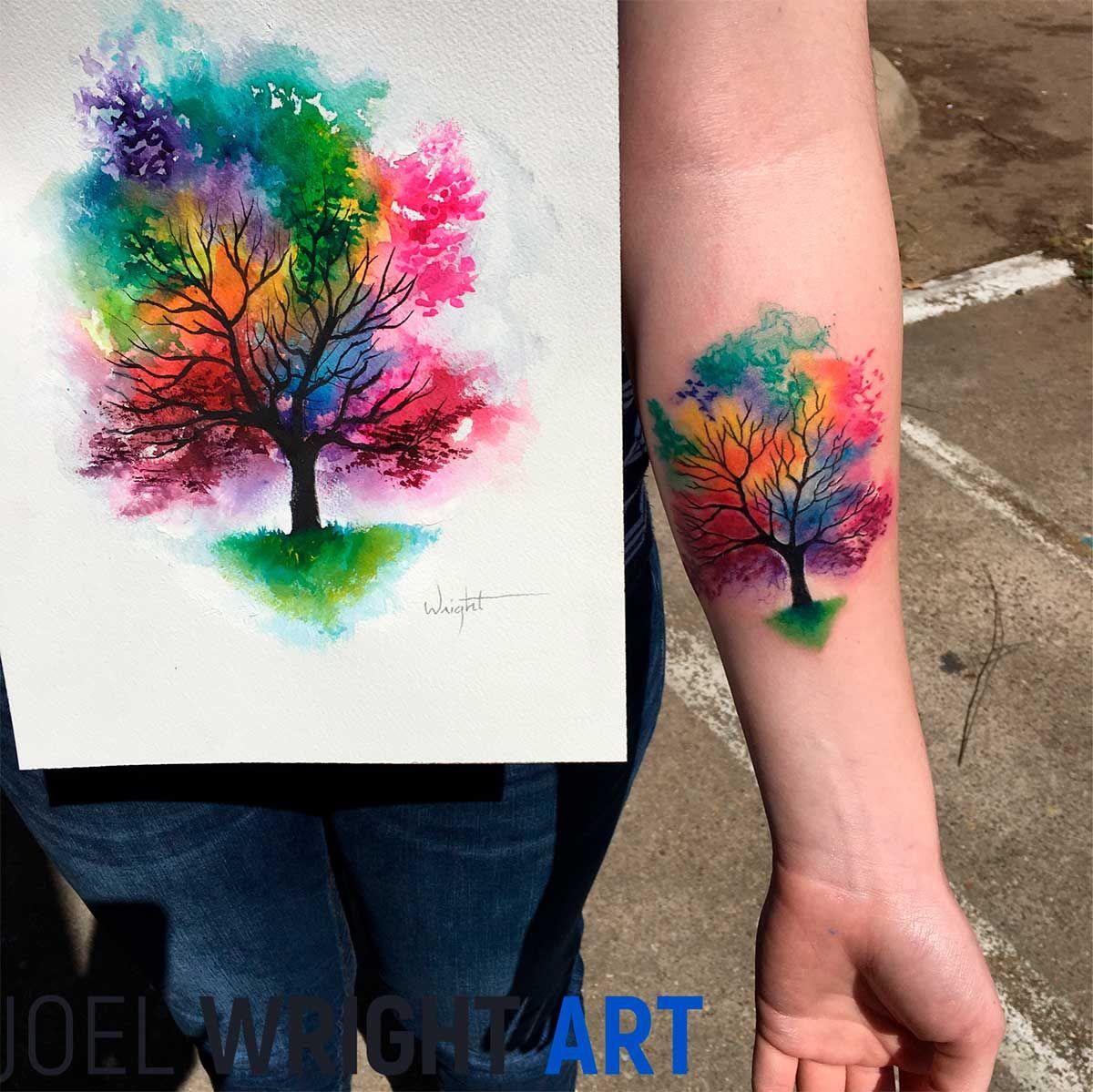Watercolor Tattoos Last This Long