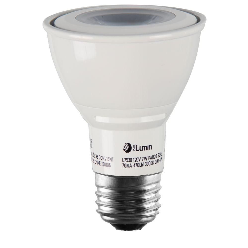 Luminance 7w Equivalent 3 000k Par20 Dimmable Led Spot Light Bulb In 2020 Light Bulb Bulb Led