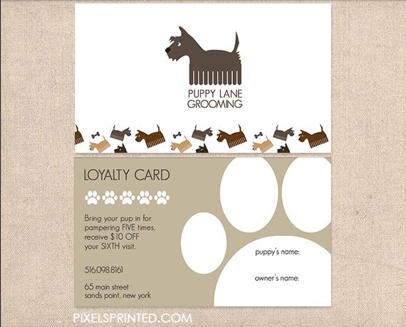dog walker business cards, pet sitter business cards, dog ...