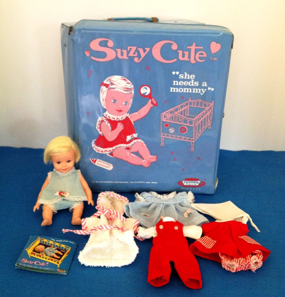 1965 Suzy Cute Doll with Original Case - I have this doll, but never knew what she was called.