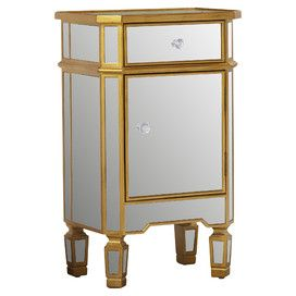 Norton Mirrored End Table