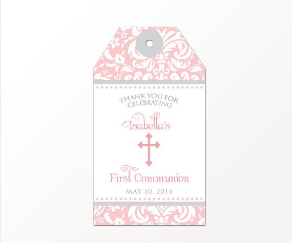 first holly communion tags first communion tags Gift tags Thank You tags praying girl Favor Tags 2x2/'/' First Communion tags Favor tags