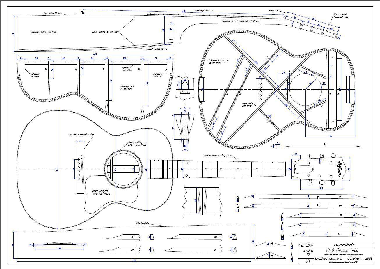 Gitarrenbau Außenform - 00-Typ | Gitarre | Pinterest | Gitarre, 3d ...
