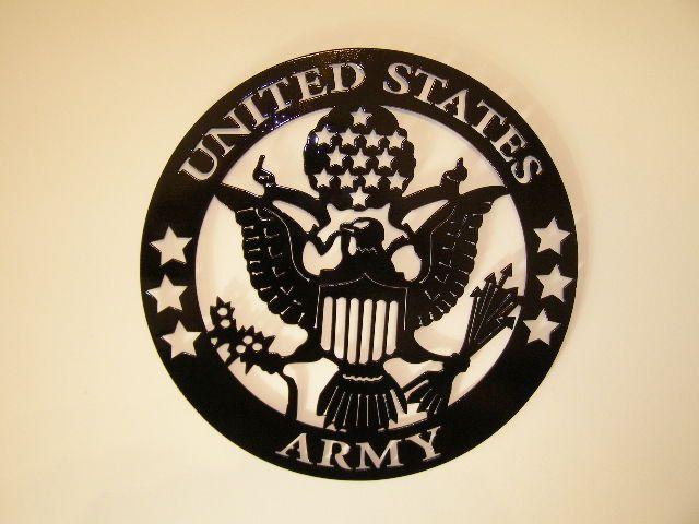 Metal Wall Art United States Army 75 00 Via Etsy