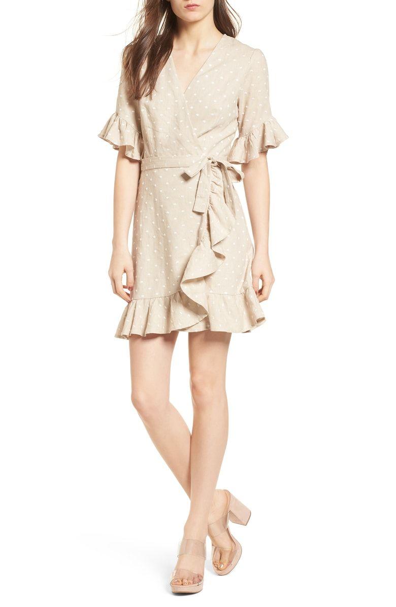 Wayf Ruffle Wrap Dress Nordstrom Wrap Dress Dresses Nordstrom Dresses [ 1196 x 780 Pixel ]