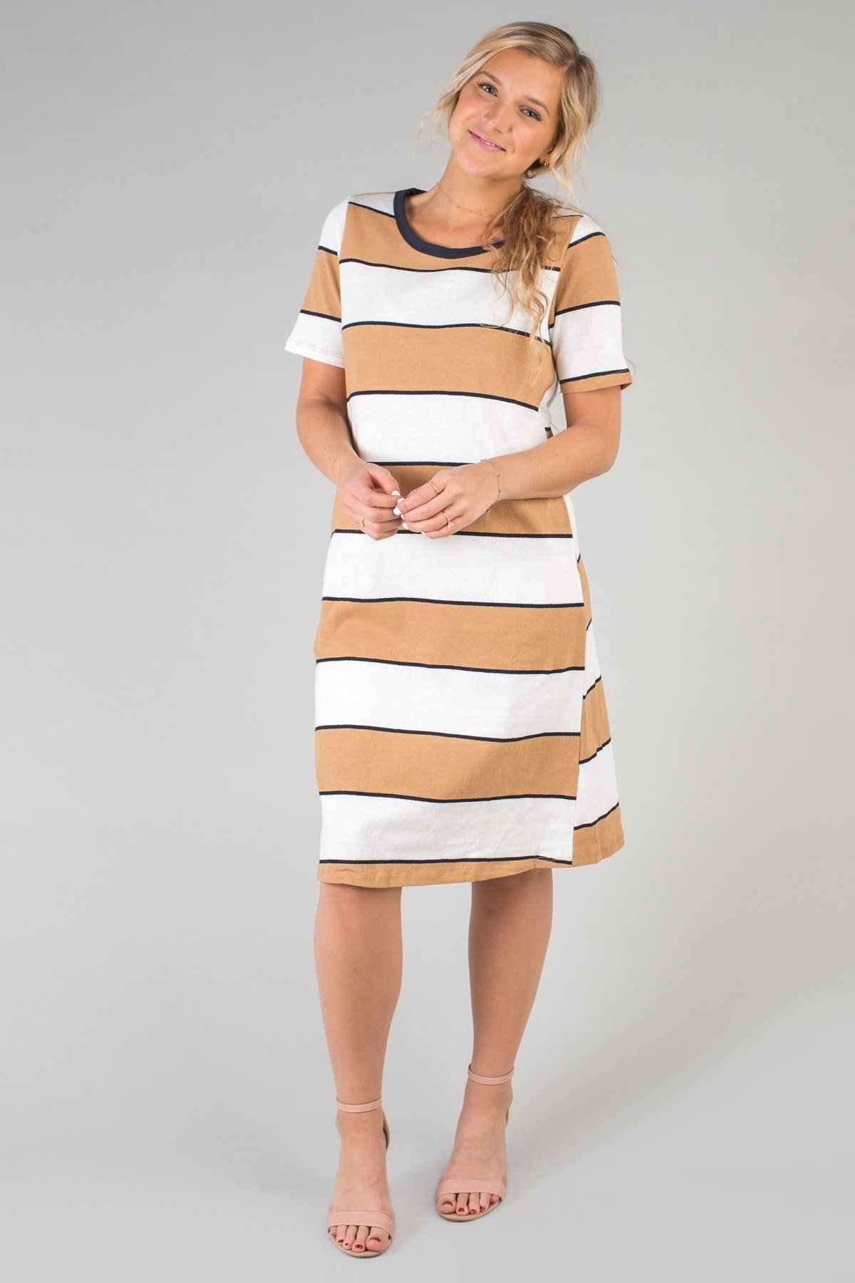 Larkin Stripe Dress Striped Dress Striped Knit Dress Dresses [ 1800 x 1200 Pixel ]