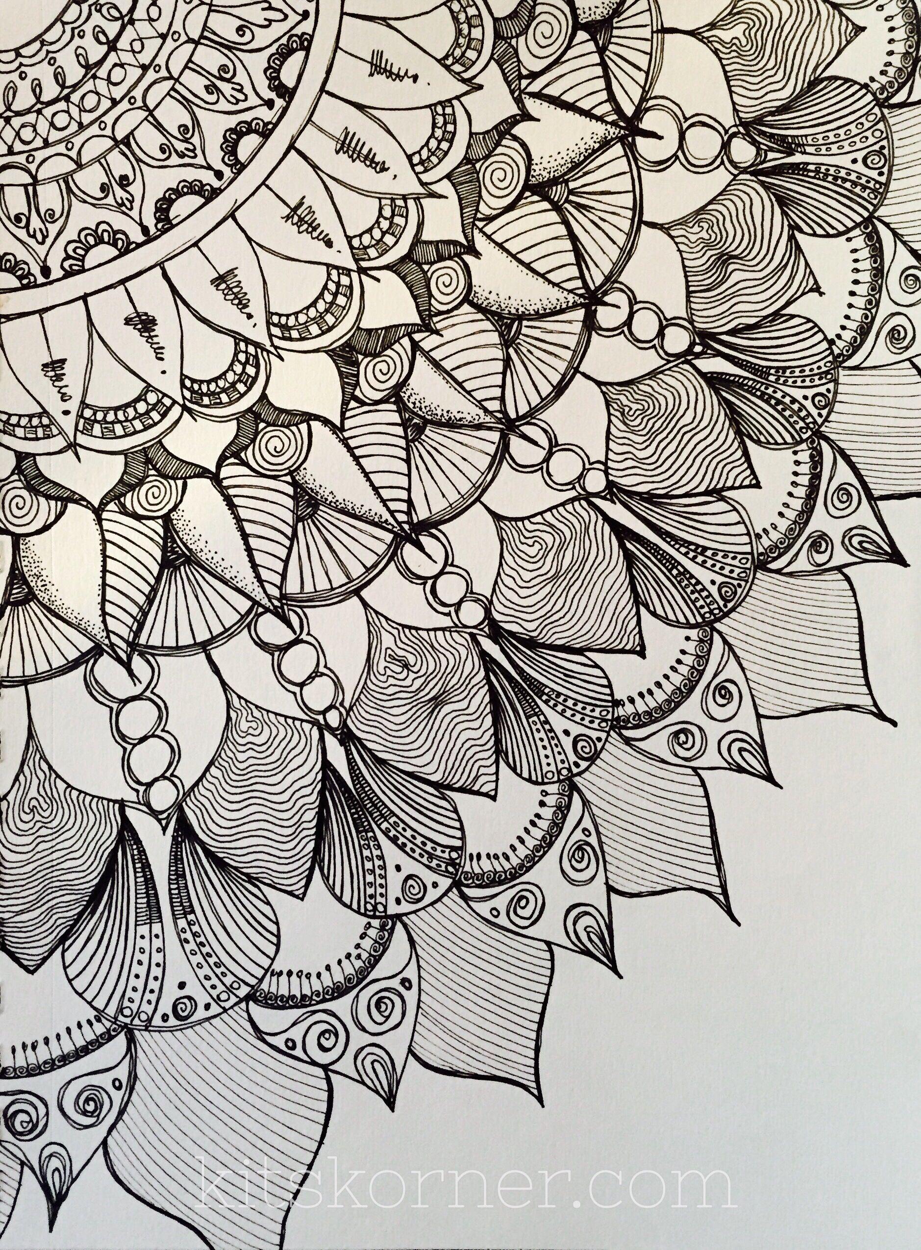 Sketchbook Mandalas 9 Pages Sketch Book Pattern Art Doodle Art