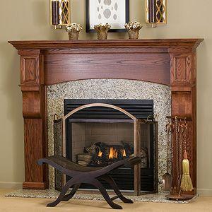 huntington custom wood fireplace mantel surround