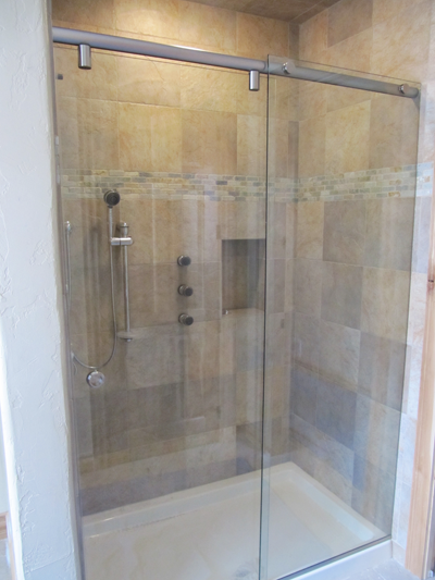 Closeout frameless glass shower door frameless sliding shower closeout frameless glass shower door frameless sliding shower enclosure with chrome finish and clear glass planetlyrics Images