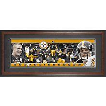 Mounted Memories Pittsburgh Steelers Ben Roethlisberger Panoramic Framed Photo - NFLShop.com