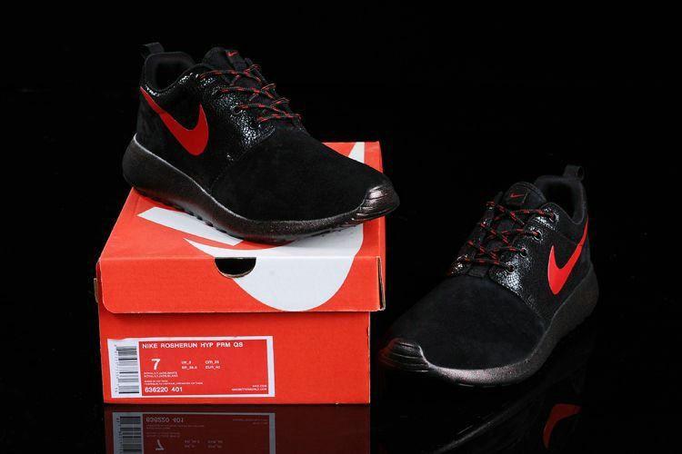Free Shipping Only 69  Mens Nike Roshe Run 511881 401 Star Diamond Black  Gym Red White 527d1c093782
