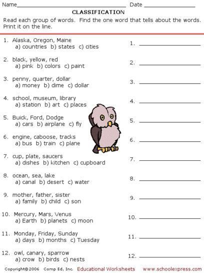 17000 Free Worksheets Worksheets Free School Worksheets Worksheets