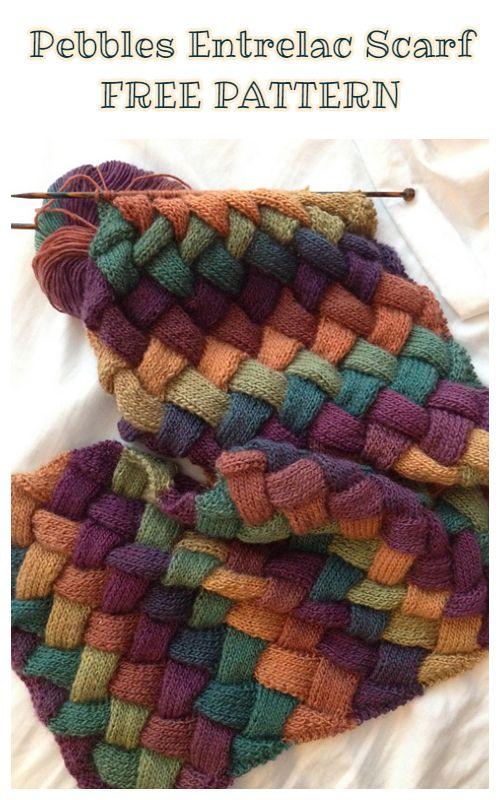 Knit Entrelac Scarf Free