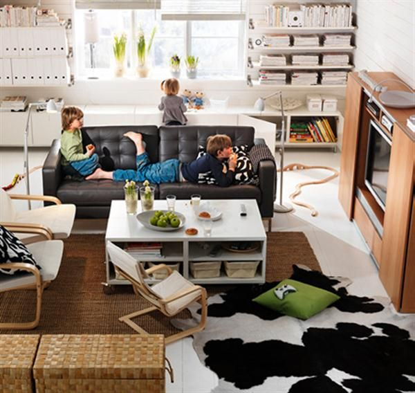 Decorationkids Ikea Interior Design Of Kids Living Room With Black