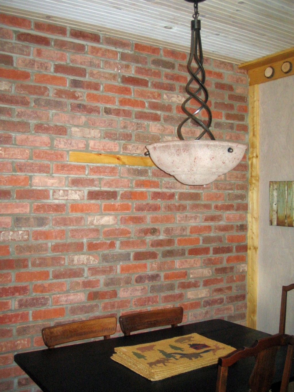 Amazing Interior Brick Veneer Is Easy To Install With These Tried And True Steps.  See How Adding A Thin Brick Wall Using Tumbled Bricks Enhances A Rustic  Design.