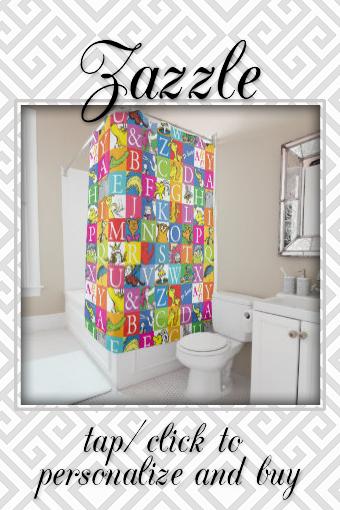 Dr Seuss S Abc Colorful Block Letter Pattern Shower Curtain