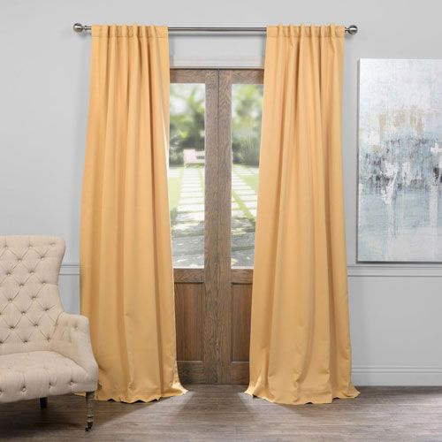 Midsummer Gold 50 X 84 Inch Blackout Curtain Panel Curtains