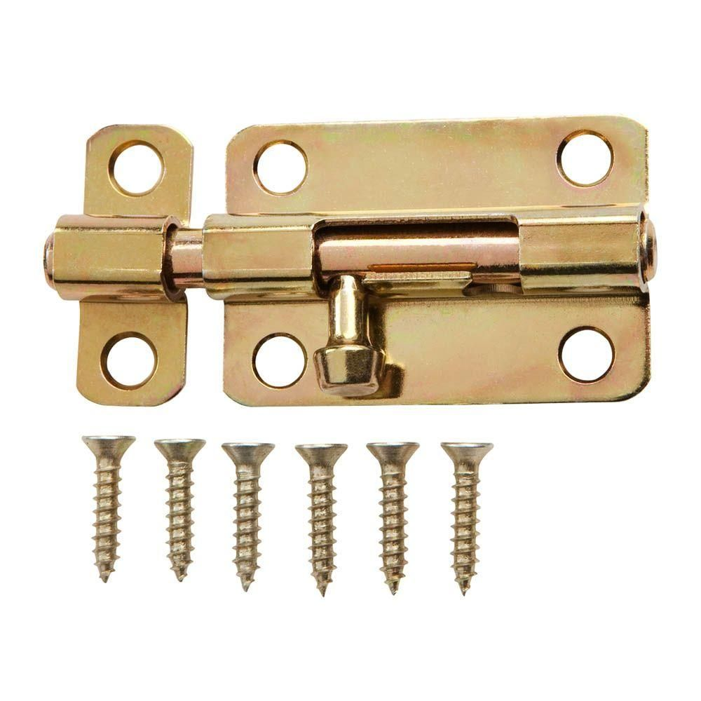 Everbilt 3 In Satin Brass Barrel Bolt 15138 Satin Brass Gate Locks Metal Door
