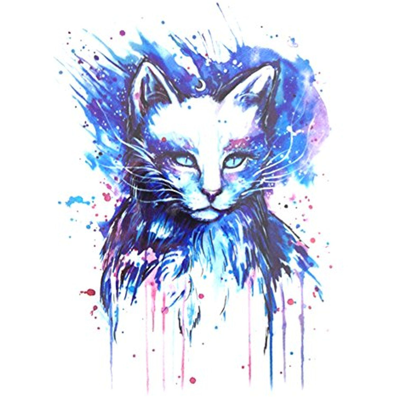 Gracefulvara Cool Owl Tattoo Stickers For Maverick Womens Teens Boys Girls Metallic Tattooing