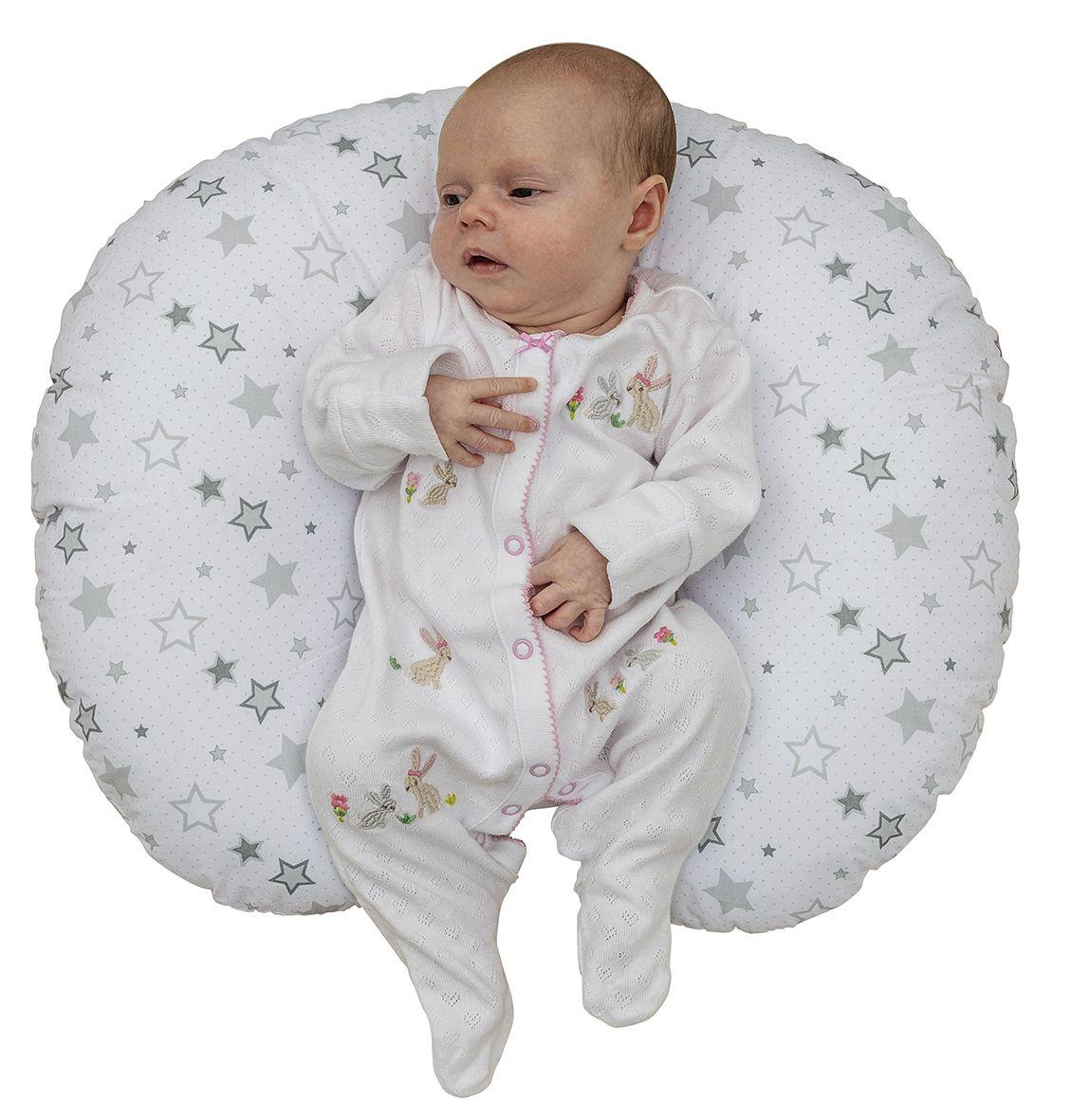 Silver Stars Donut Nursing Pillow