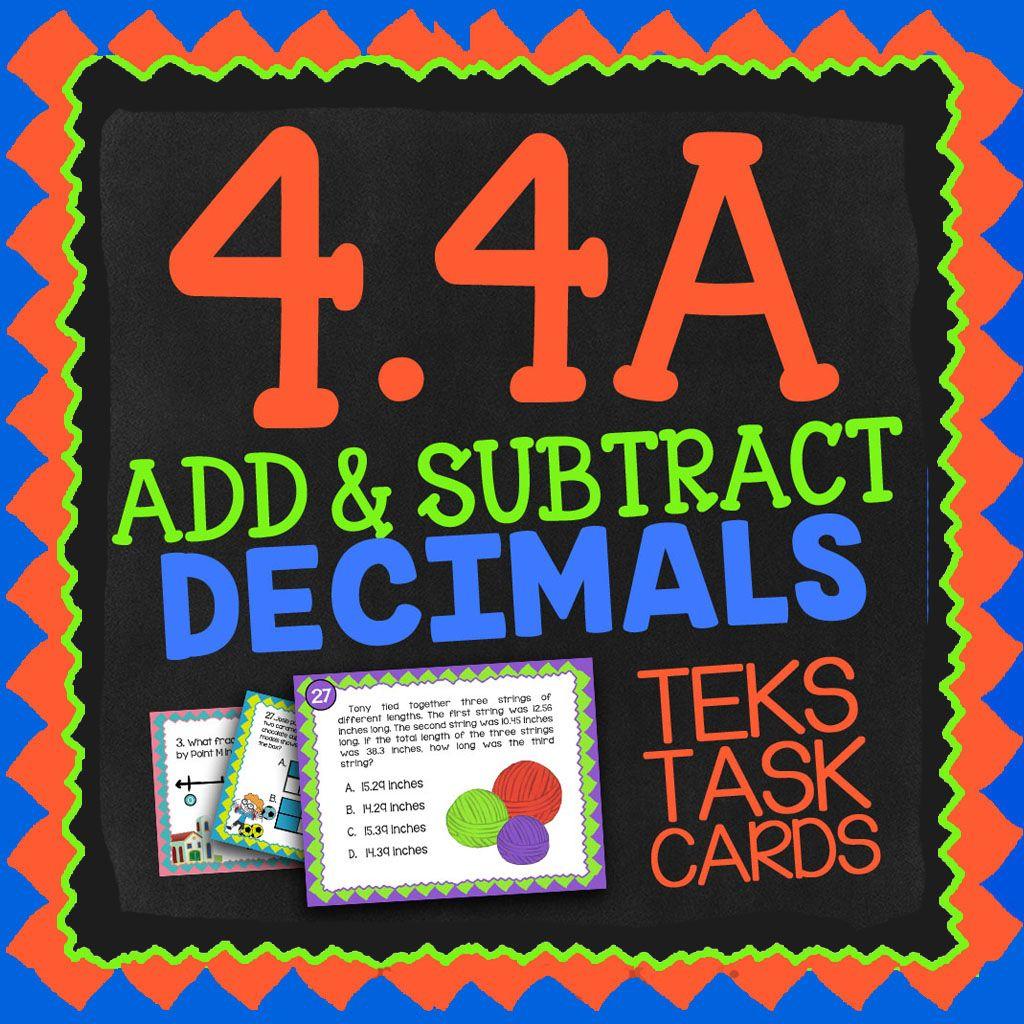 Math Tek 4 4a Adding Amp Subtracting Decimals 4th Grade