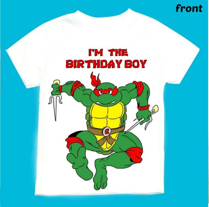 Raphael the Ninja turtle Birthday Boy T-shirt Personalized 1st 2nd 3rd 4th 5th 6th  Personalization is included at no additional cost. by FantasyKidsDesigns on Etsy https://www.etsy.com/listing/206327560/raphael-the-ninja-turtle-birthday-boy-t
