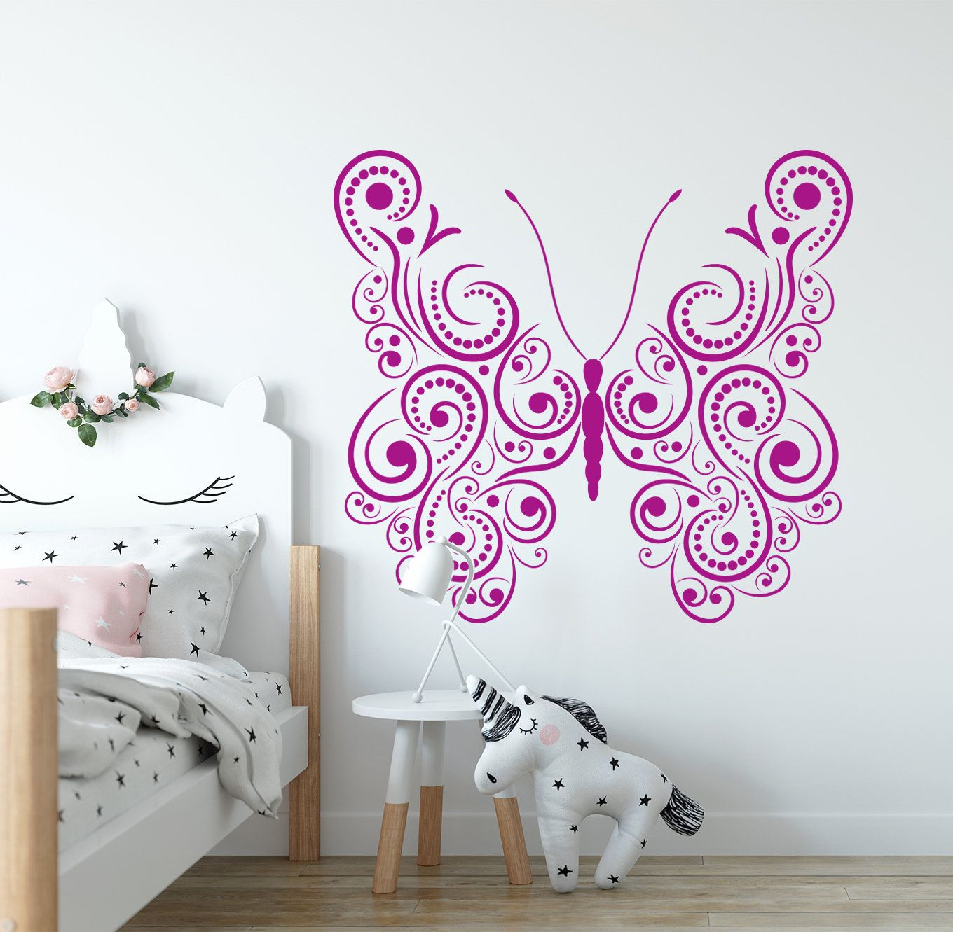 Butterfly wall decal, Nursery decal, Girls room decal, Baby ...