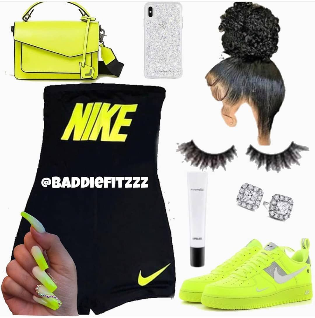 Nike Fits (Part 1)🤩👸🏽 • • • Follow @baddie__outfits for more post just like this #melaninpoppin #melainmagic #like4like #hoodclips…