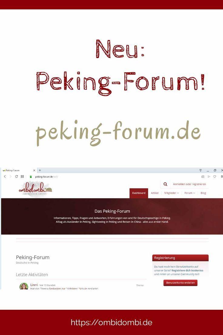 Neu Ein PekingForum Peking, In china und Neue wege