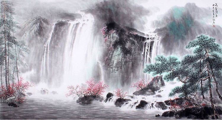 Nature Art Painting For Sale Classic Best Beautiful Chinese Original Landscape Painting Nature Art Painting Art Paintings For Sale Original Landscape Painting