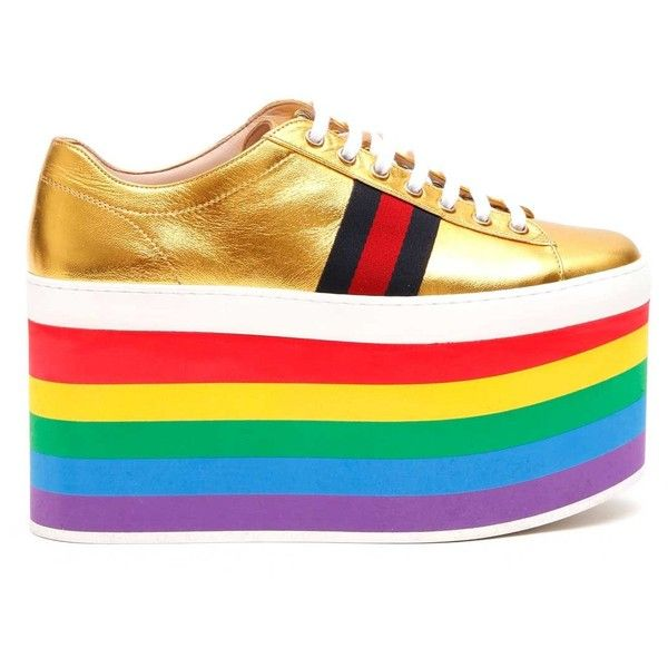 GUCCI Sneaker With 'Rainbow' Wedge