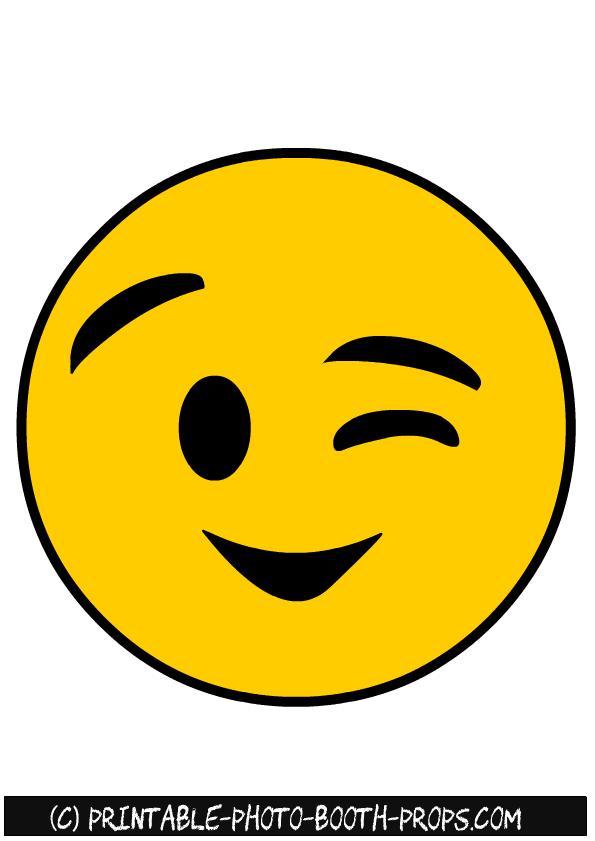 Winking Emoji Photo Booth Prop Emoji Printables Emoji Photo Booth Emoji Photo