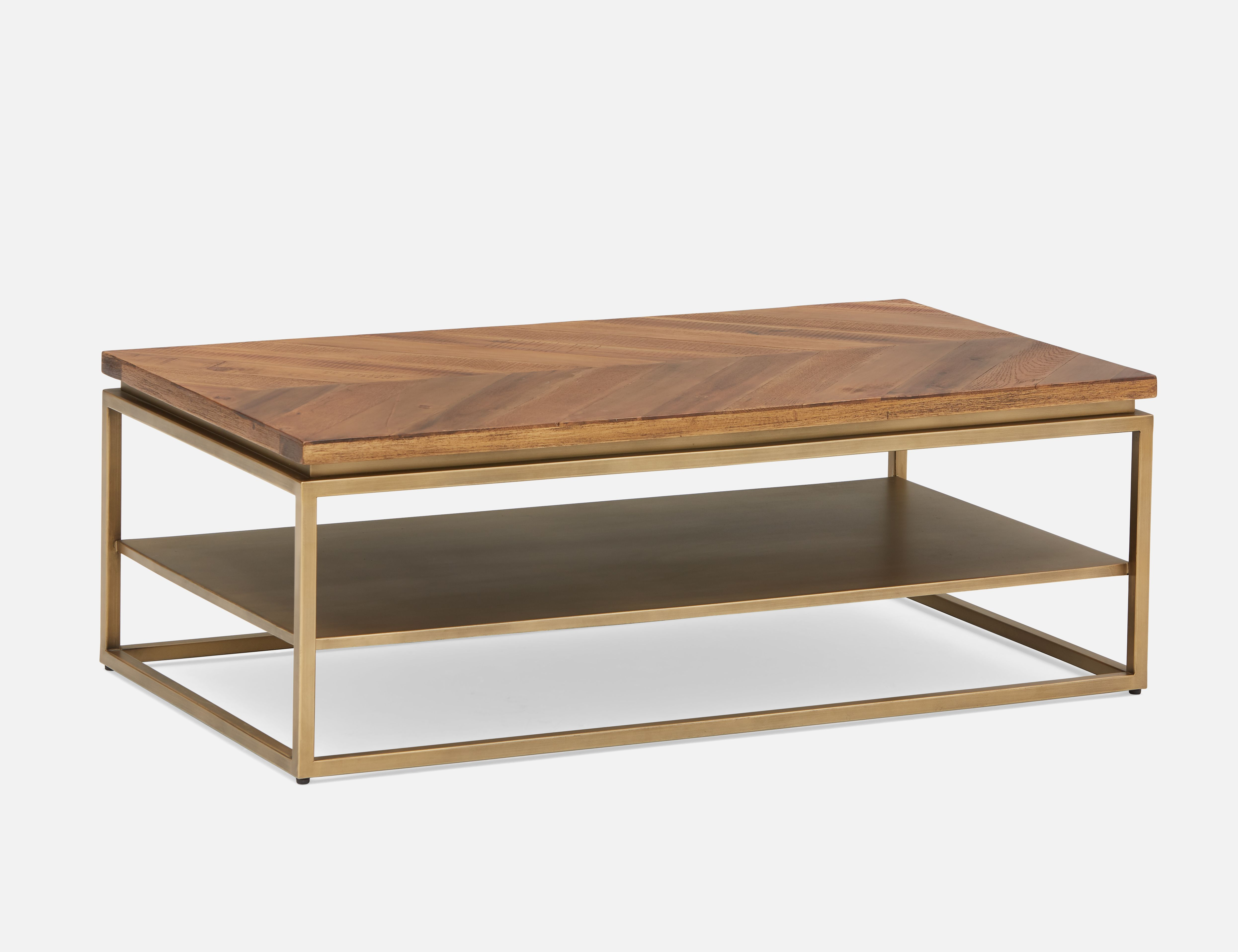 Brown Coffee Table With Wooden Top 41cm 16 Structube Sigrid Coffee Table Wood Brass Coffee Table Living Room Brown Coffee Table