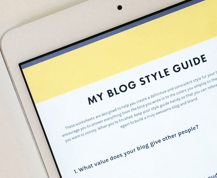 How Why To Create A Style Guide For Your Blog Free Worksheets