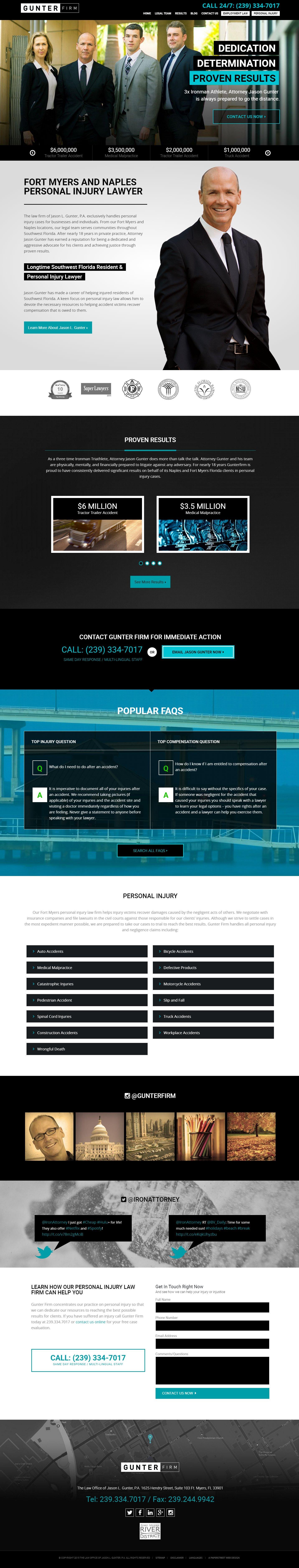 Lawyer Web Design Attorney Websites Paperstreet Website Design Inspiration Web Design Examples Custom Web Design