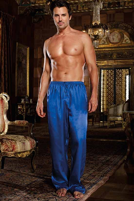 e83299fe77 Sapphire Charmeuse Pyjama Trousers by Dreamgirl