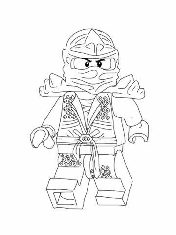 Lego Ninjago - the green ninja | LEGO omalovánky | Pinterest | Lego ...
