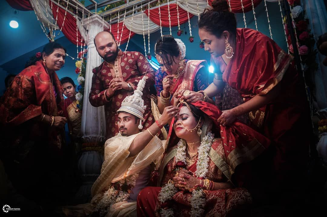 Glimpse of One of the best eternal feeling for a woman in her entire life.. Marriage helps in binding two beautiful hearts into one loved SOUL... . . For bookings and queries you can call / text / whatsapp us on 91 8240464085  #weddingphotography #weddingphotographer #mywed #fearlessphotographers #candidweddingphotography #candidweddingphotographer #weddingplanning #destinationwedding #couples #weddinggoals #weddingsutra #weddingzin #bridesofindia #captureshaadimoments #capturetomorrow #wpja #ph