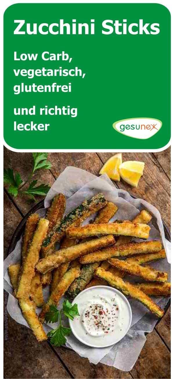 Zucchini Sticks - Low Carb, vegetarisch, glutenfrei und richtig lecker | gesunex #vegetariangrilling