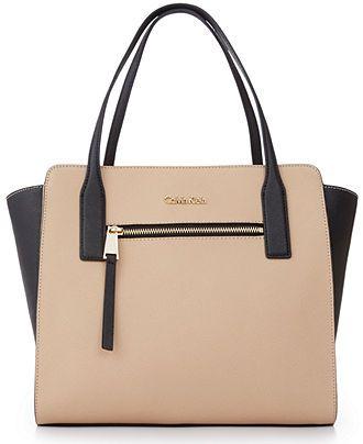840b2d0d0b Calvin Klein Key Items Saffiano Tote - Calvin Klein - Handbags &  Accessories - Macy's